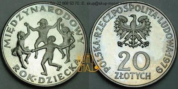 Warszawa – 20 zł 1979 r. – Międzynarodowy Rok Dziecka, dwadzieścia złotych