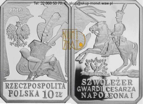 Warszawa – 10 zł 2010 r. – Szwoleżer Gwardii Cesarza Napoleona I – Historia jazdy polskiej