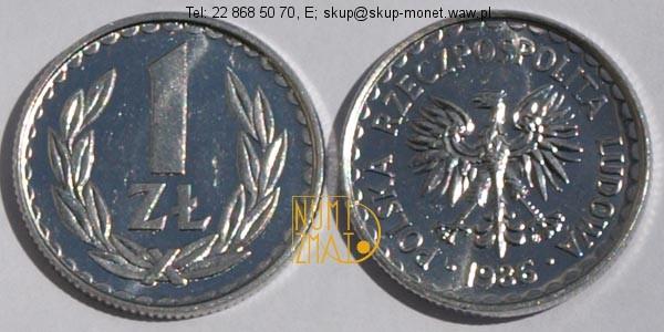 Warszawa – 1 zł 1986 r. jeden złoty