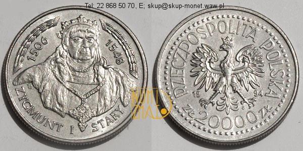 Warszawa – 20000 zł 1994 r. Zygmunt I Stary, dwadzieścia tysięcy złotych