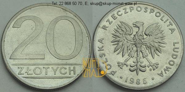 Warszawa – 20 zł 1985 r. dwadzieścia złotych