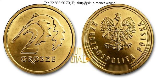 Warszawa – 2 gr 2015 r. The Royal Mint, dwa grosze