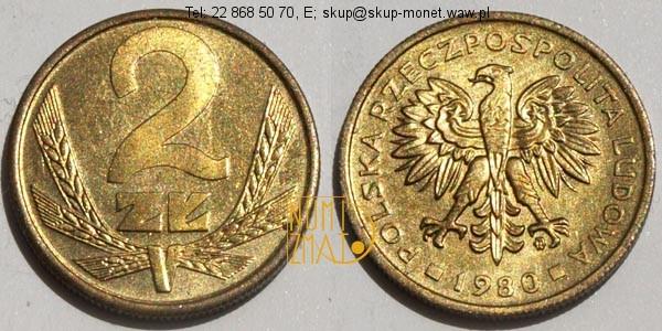 Warszawa – 2 zł 1980 r. dwa złote