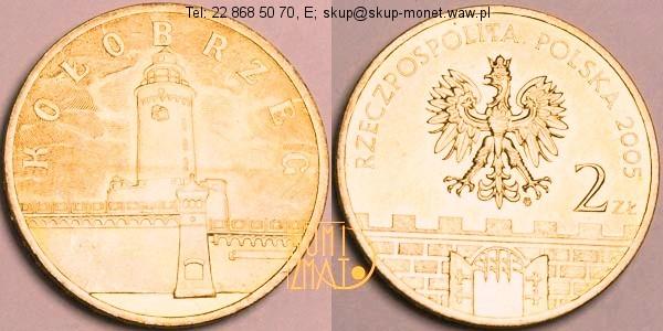Warszawa – 2 zł 2005 r. – Kołobrzeg – Historyczne miasta w Polsce, dwa złote NG