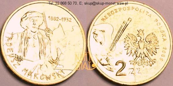 Warszawa – 2 zł 2005 r. – Tadeusz Makowski – Polscy Malarze XIX/XX Wieku, dwa złote NG