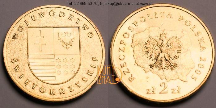 Warszawa – 2 zł 2005 r. – Województwo świętokrzyskie – Herby województw, dwa złote NG