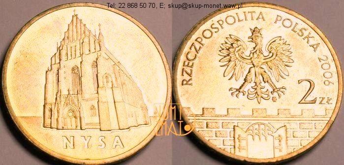 Warszawa – 2 zł 2006 r. – Nysa – Historyczne miasta w Polsce, dwa złote NG