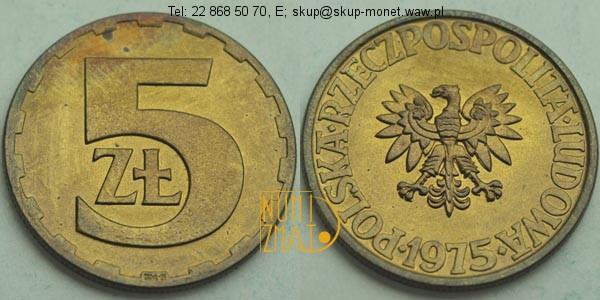 Warszawa – 5 zł 1975 r. pięć złotych
