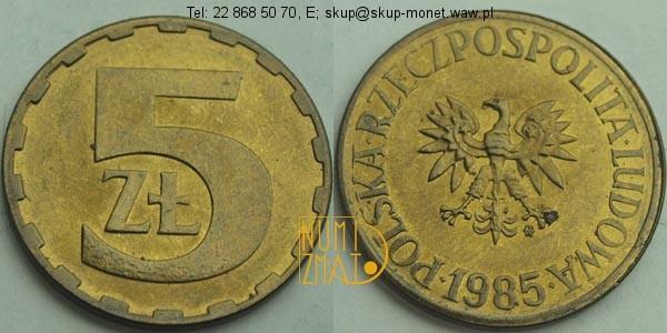 Warszawa – 5 zł 1985 r. pięć złotych
