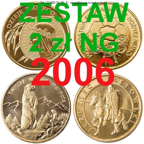 Warszawa – ! 1. Zestaw wszystkich 23 monet 2 zł NG z 2006 roku, dwa złote NG